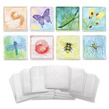 "ChenilleKraft 6"" Embossed Paper Insects Set - 6"" x 6"" - 24 / Set - White CKC4641"