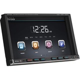 Boss Audio BV9755 Double-DIN 7 inch Motorized Touchscreen DVD Player Receiver, Wireless Remote - 4 Channels - DVD+RW, DVD-RW, CD-RW - DVD Video, VCD, MP4 - CD-DA, MP3, WMA - AM, FM - SD - USB - Auxiliary Input - iPod/iPhone Compatible - In-dash
