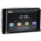 Boss Audio BV9757B Double-DIN 7 inch Motorized Touchscreen DVD Player Receiver, Bluetooth, Wireless Remote - 4 Channels - DVD+RW, DVD-RW, CD-RW - DVD Video, VCD, MP4 - CD-DA, MP3, WMA - AM, FM - SD - Bluetooth - USB - Auxiliary Input - In-dash