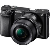 Sony alpha a6000 24.3 Megapixel Mirrorless Camera with Lens (Body with Lens Kit) - 16 mm - 50 mm - Black