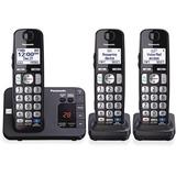 Panasonic KX-TGE233B DECT 6.0 1.90 GHz Cordless Phone - Black - Cordless - 1 x Phone Line - 2 x Hand PANKXTGE233B