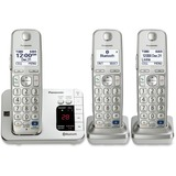 Panasonic Link2Cell KX-TGE263S DECT 6.0 1.90 GHz Cordless Phone - Silver - Cordless - 1 x Phone Line PANKXTGE263S