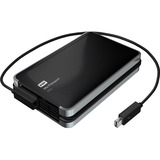 WD My Passport Pro WDBRMP0020DBK-NESN DAS Array - 2 x HDD Supported - 2 TB Installed HDD Capacity
