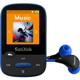 SanDisk Clip Sport 8 GB Flash MP3 Player - Blue