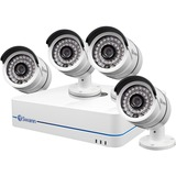 Swann NVR8-7085 8 Channel 720p Network Video Recorder & 4 x NHD-806 Cameras