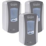 GOJO® LTX-12 Touch-Free Dispenser, 1200mL, 5 1/4 x 3 1/3 x 10 1/2, Gray/White, 4/Ct GOJ198404CT
