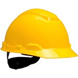 3M H700 Series Ratchet Suspension Hard Hats - Head, Ultraviolet Protection - Yellow - 1 Each MMMH702RUV
