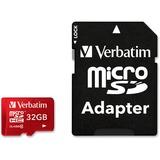 Verbatim 32GB Tablet microSDHC Memory Card, UHS-1 Class 10 Red