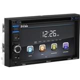 Boss Audio BV9364B Double-DIN 6.2 inch Touchscreen DVD Player Receiver, Bluetooth, Wireless Remote - 4 Channels - DVD+RW, DVD-RW, CD-RW - DVD Video, VCD, MP4 - CD-DA, MP3, WMA - AM, FM - SD - Bluetooth - USB - Auxiliary Input - In-dash