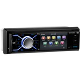 Boss Audio BV7348B Single-DIN 3.2 inch Screen DVD Player Receiver, Bluetooth, Detachable Front Panel, Wireless Remote - 4 Channels - DVD+RW, DVD-RW, CD-RW - DVD Video, VCD, MP4 - CD-DA, MP3, WMA - AM, FM - SD - Bluetooth - USB - Auxiliary Input - In-dash