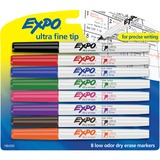 EXPO® Low-Odor Dry-Erase Marker, Ultra Fine Point, Assorted, 8/Set SAN1884309