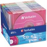 VER94611 - Verbatim CD-R 700MB 52X with Color Branded Surf...