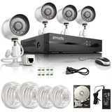 Zmodo 4CH 720P HD Network sPoE NVR Security System & 4 IP Cameras-1TB HDD