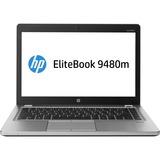 """HP EliteBook Folio 9480m 14"""" LED Ultrabook - Intel Core i5 i5-4310U Dual-core (2 Core) 2 GHz - Platinum"""