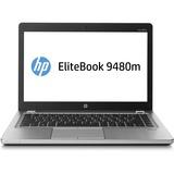 """HP EliteBook Folio 9480m 14"""" LED Ultrabook - Intel Core i7 i7-4600U Dual-core (2 Core) 2.10 GHz - Platinum"""