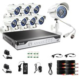Zmodo 8CH 960H DVR Video Surveillance System with 8 700TVL IR Cameras