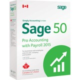Sage 50 Pro Accounting 2015 Canadian Edition With Payroll - 1 User