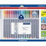 Staedtler® triplus Fineliner Marker, Super Fine, Water-Based, 20 Color Set STD334SB20A6