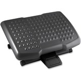 "Lorell Adjustable Height Footrest - Ergonomic Design - 6.50"" Adjustment - Black LLR12818"