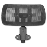 Lorell 85560 Mesh Headrest - Black - Nylon - 1 Each LLR85545