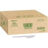 "Eco-Products 7"" Plant Starch Cutlery - 1 Piece(s) - 1000/Carton - Plant Starch - Beige ECOEPS001CT"