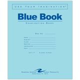 "Roaring Spring Examination Blue Book - 8 Sheets - Printed - Stapled - 15 lb Basis Weight 8.50"" x 7""  ROA77512EA"
