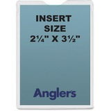 """Anglers Self-stick Crystal Clear Poly Envelopes - File - 2.25"""" Width x 3.50"""" Length - Self-sealing - ANG1404P50"""