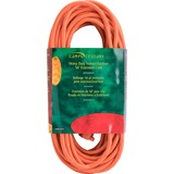 Compucessory Heavy Duty Extension Cord 50', Orange - 125 V DC Voltage Rating - 13 A Current Rating - CCS25149