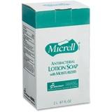 SKILCRAFT MICRELL Antibctrl Dispenser Soap Refill - 67.6 fl oz (2 L) - Kill Germs - Hand - White - A NSN5220831