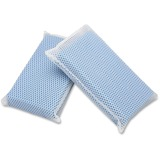 "SKILCRAFT All-Purpose Mesh Scrubbers - 5"" x 3-1/2"" x 1-1/4"", Blue - 24/Box - Nylon - Blue NSN6264444"