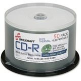 SKILCRAFT CD Recordable Media - CD-R - 52x - 700 MB - 50 Pack Spindle - 120mm - Printable - Thermal  NSN6269521