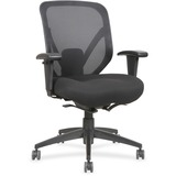 "Lorell Self-tilt Mid-back Chair - Fabric Seat - Fabric Back - 5-star Base - Black - 19.13"" Seat Widt LLR20017"