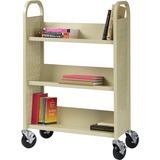 "Lorell Single-sided Book Cart - 3 Shelf - 200 lb Capacity - 5"" Caster Size - Steel - 39"" Width x 14"" LLR49204"