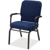 Lorell Fixed Arms Fabric Oversized Stack Chairs - Fabric Navy Seat - Fabric Navy Back - Steel Frame  LLR59602