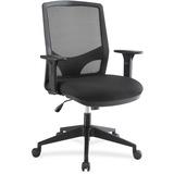 "Lorell Executive Mesh Fabric Swivel Chair - Fabric Black Seat - Black Back - 5-star Base - 28.3"" Wid LLR66932"