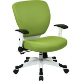 """Space seating Deluxe Mesh Task Chair - Green Seat - Green Back - 5-star Base - 20.50"""" Seat Width x 1 OSP5200W6"""