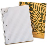 """Ampad Earthwise Recycled 3HP Notebook - 80 Sheets - Printed - Wire Bound - Letter 8.50"""" x 11"""" - Whit TOP25480"""