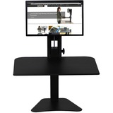 Victor® High Rise Collection Sit-Stand Desk Converter, 28 x 23 x 15 1/2, Black VCTDC300