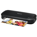 "Laminator for light use in home or home office. Laminates documents and photos up to 9"" wide"