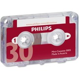 Philips Speech Dictation Minicassette With File Clip - 10 x 30 Minute PSPLFH000560BX
