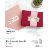 Avery® Rectangle Labels, 1 x 2 5/8, Pearl Ivory, 240/Pack AVE22837
