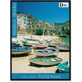 "Dax Back Loading Poster Frame - 18"" x 24"" Frame Size - Rectangle - Horizontal, Vertical - Plastic -  DAXN1850W1T"