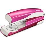 """Leitz 5504 Full-strip Stapler - 30, 40 Sheets Capacity - Full Strip - 5/16"""" Staple Size - Pink LTZ55047023"""