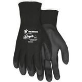 MCR Safety Ninja HPT Nylon Safety Gloves - Large Size - Nylon, Polymer, Foam - Black - Anti-bacteria MCSCRWN9699L