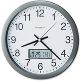 """Howard Miller® Chronicle Wall Clock with LCD Inset, 14"""", Gray MIL625195"""
