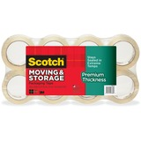 "Scotch® Moving & Storage Tape Premium Thickness, 1.88"" x 54.6yds, 3"" Core, Clear, 8/Pack MMM3631548"