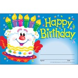"""Trend Happy Birthday Recognition Awards - 5.50"""" x 8.50"""" - Multicolor TEP81017"""