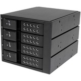 StarTech.com 4 Bay Aluminum Trayless Hot Swap Mobile Rack Backplane for 3.5in SAS II/SATA III - 6 Gbps HDD