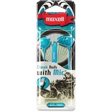 Maxell Classic Earbud with Mic Teal