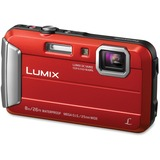 "Panasonic Lumix TS30 16 Megapixel Compact Camera - Red - 2.7"" LCD - 16:9 - 4x Optical Zoom - 4x - Op PANDMCTS30R"